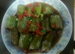 青椒肉末卷