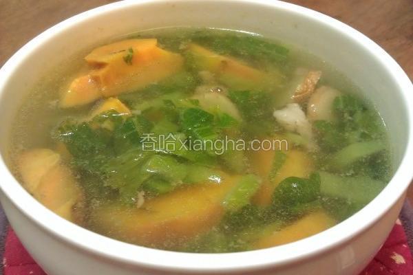 芥菜地瓜肉丝汤