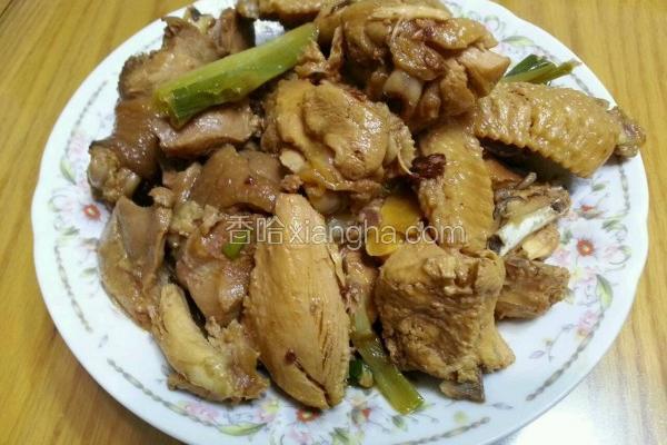 葱姜麻油红烧鸡