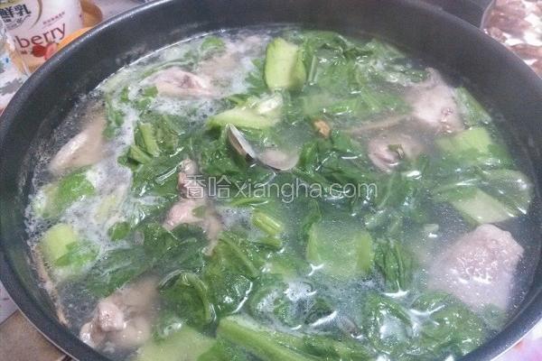 芥菜蛤蛎鸡汤