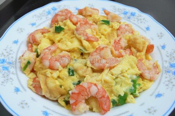 虾仁炒蛋的做法