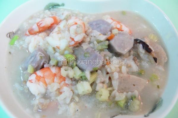 芋头海鲜糙米粥