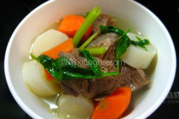 牛肉青蔬牛肉汤