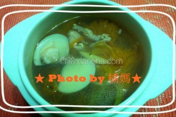 金针蛤蜊汤