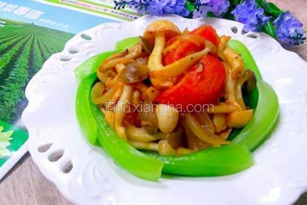 菜篮食材菇菇番茄