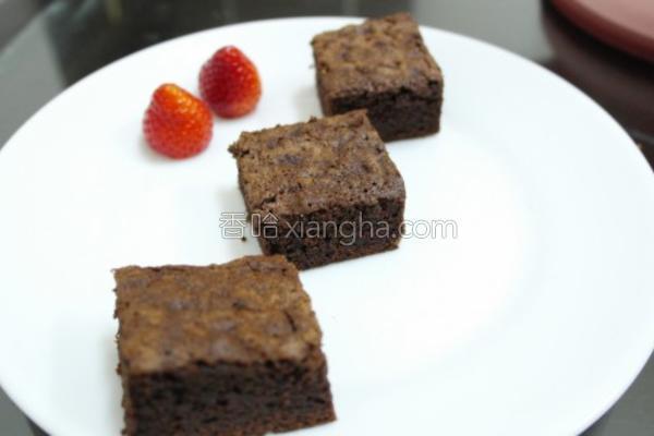 面粉巧克力布朗尼的做法