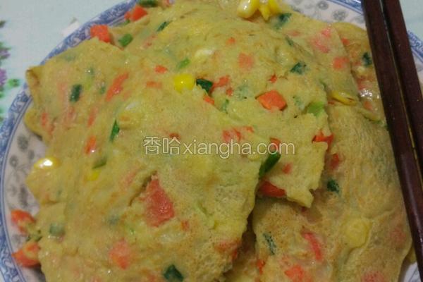 玉米胡萝卜鸡蛋饼