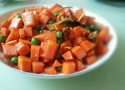 豌豆粒炒胡萝卜