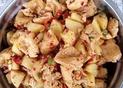 家常菜―油豆腐焖土豆