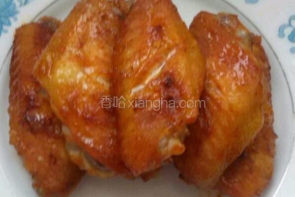 奥尔良烤鸡翅中。