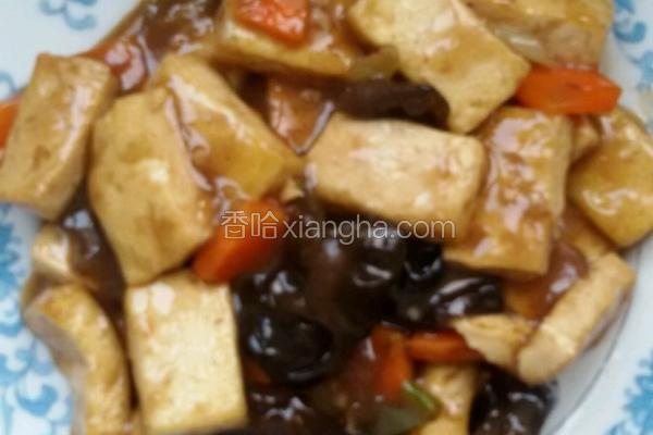 家常素豆腐。