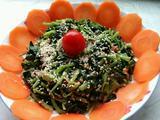 芝麻酱拌菠菜花生的做法[图]