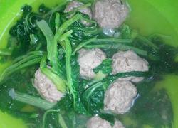 小白菜牛肉丸子汤