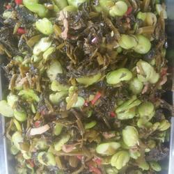 苦菜坛烧蚕豆