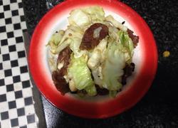 豆豉包菜炒香肠
