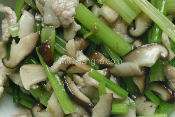 香菇芹菜炒肉