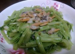 花甲肉炒通菜梗