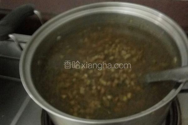 西米绿豆甜汤