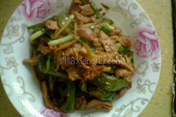 虎皮青椒炒肉丝
