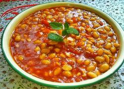 番茄烩黄豆