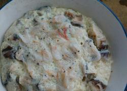 香菇虾皮鸡蛋羹