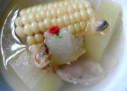 冬瓜玉米沙蚬瘦肉汤