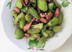 火腿榄菜炒丝瓜