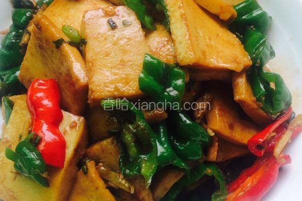 青椒千张豆腐