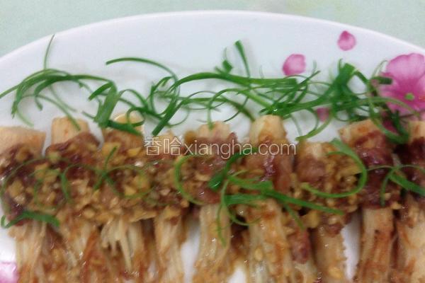 香煎肉卷金针菇