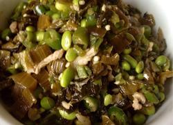 雪菜毛豆肉丝