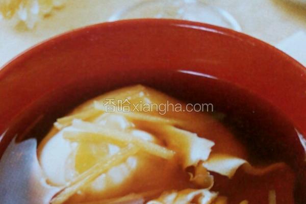 红糖姜汁蛋包汤