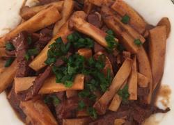 杏鲍菇炒土猪肉