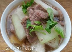 羊肉片氽冬瓜