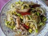 黄豆芽炒香菇的做法[图]