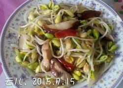 黄豆芽炒香菇