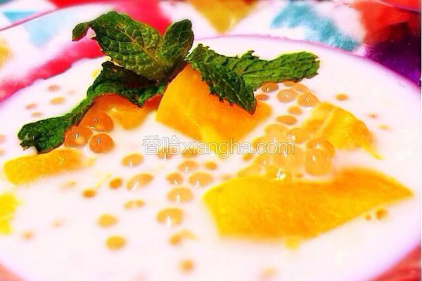 木瓜椰奶西米露