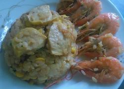 鲜虾玉米饭