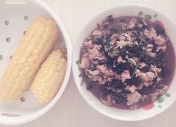 减肥午餐,玉米和苋菜炒鸡蛋