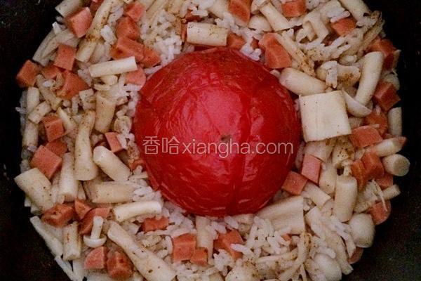 海鲜菇火腿番茄饭