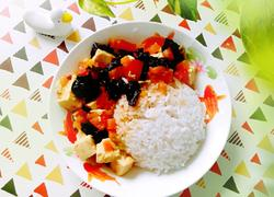 豆腐卤汁盖饭