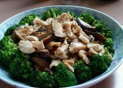 西兰花香菇炒瘦肉