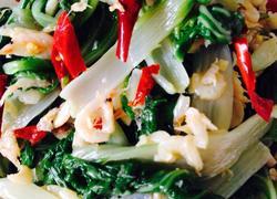 虾皮拌小白菜