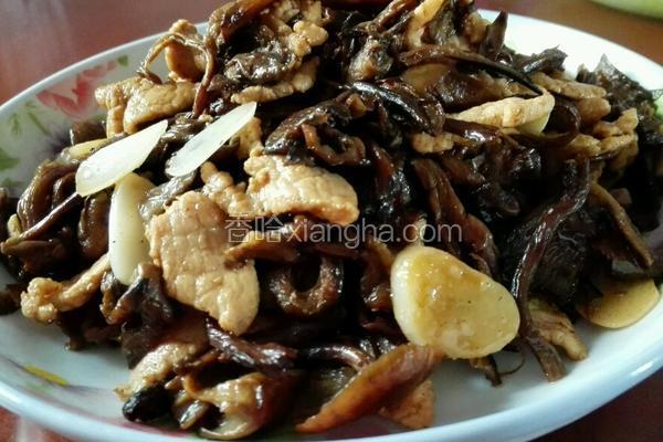 坝上榛蘑炒肉片