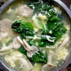 凤尾菇青菜蛋花汤