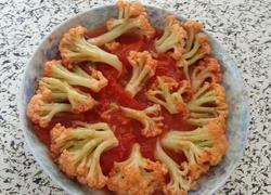 番茄炒花菜