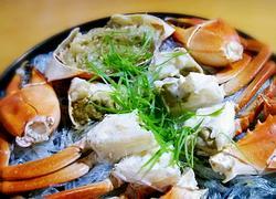 清蒸粉丝肉蟹