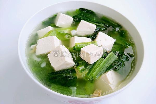 小白菜豆腐汤
