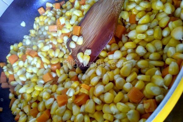 玉米炒萝卜