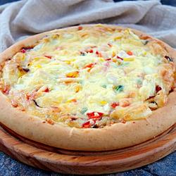 蔬菜培根披萨(九寸)