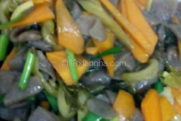 酸菜胡萝卜炒魔芋
